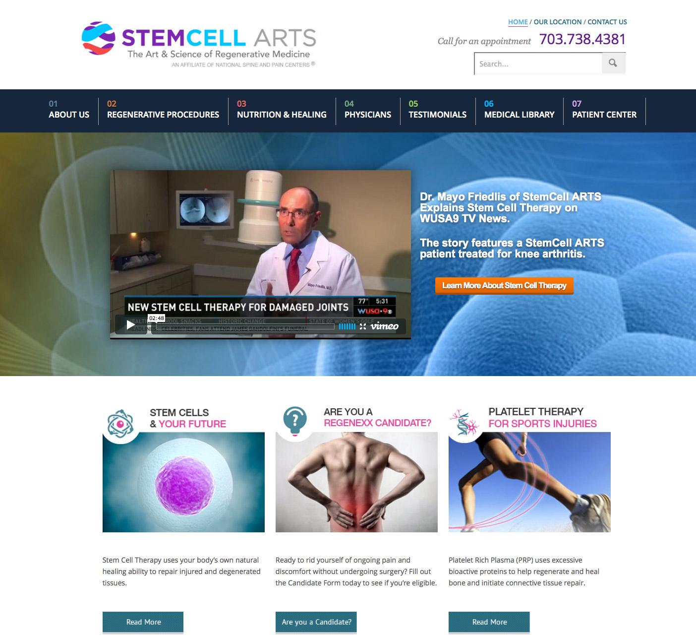 StemCell ARTS – UI/UX Design