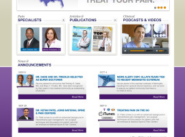 National Spine & Pain Centers  | Corporate Brand Strategy, Custom Website Design, Marketing Campaigns | WordPress Implementation